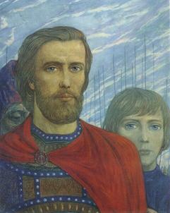Илья Глазунов. Цикл «Поле Куликово». Дмитрий Донской. 1980.