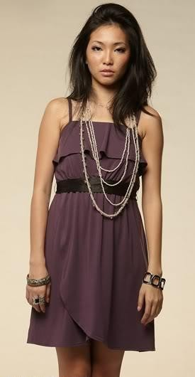 HH Triple Flaps Sash Frock ( Purple )