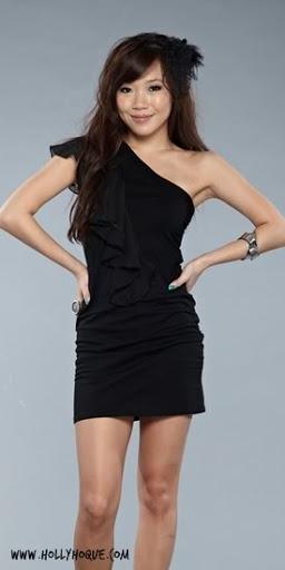 HH Chiffon Ruffles Toga Dress ( Black )