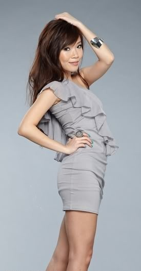 HH Chiffon Ruffles Toga Dress ( Grey )