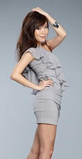 HH Chiffon Ruffles Toga Dress ( Grey )