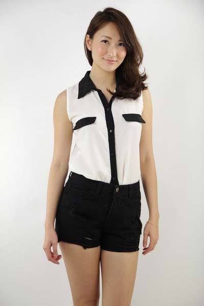 Matilda Button Down Blouse ( White )