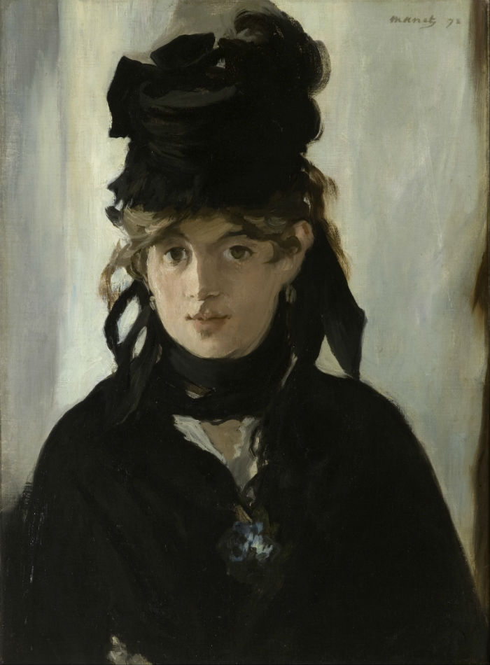 Эдуард Мане - Портрет Берты Моризо с букетом фиалок - 1872.jpg