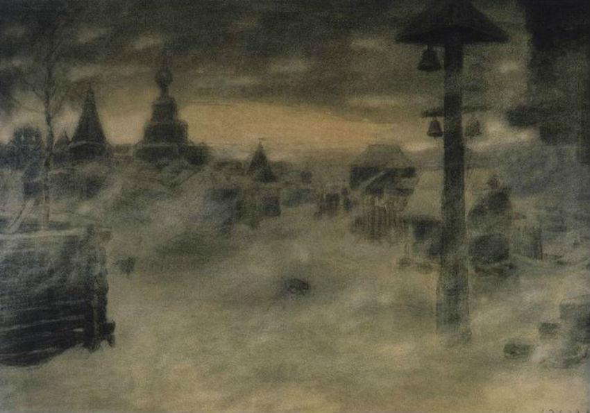 Аполлинарий Михайлович Васнецов - Вьюжит Метель Старая Москва - 1904.jpg