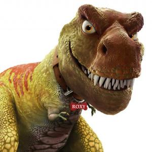 giant head roxy t-rex banner by bt_kady