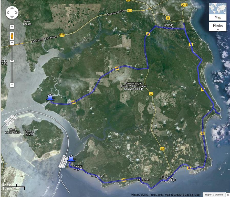 Desaru Route Map
