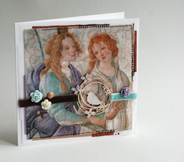 открытки ручной работы-ботичелли