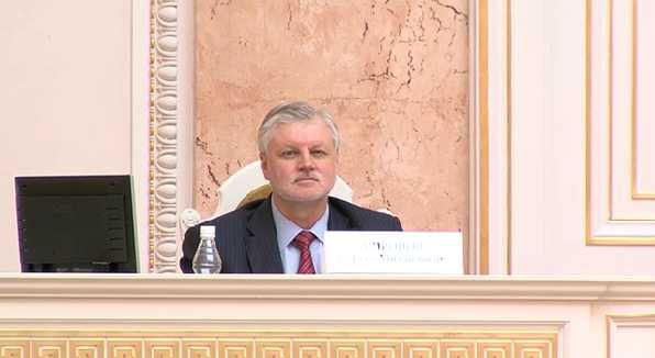Сергей Миронов в ЗАКСе перед снятием