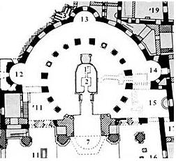 план центричн хр 4век Гроба Госп в Иерусалиме