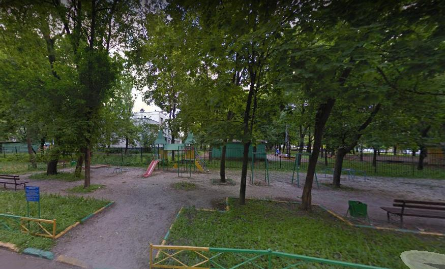 Детская площадка у д. 19, корп. 3 по ул. Шоссейная. Скриншот с Google карты