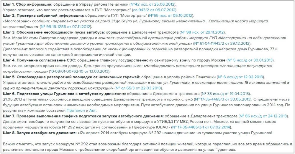 Скриншот из публикации муниципального депутата Виталия Третьюхина