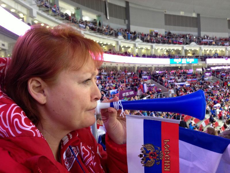 Людмила Стебенкова на Олимпиаде в Сочи.