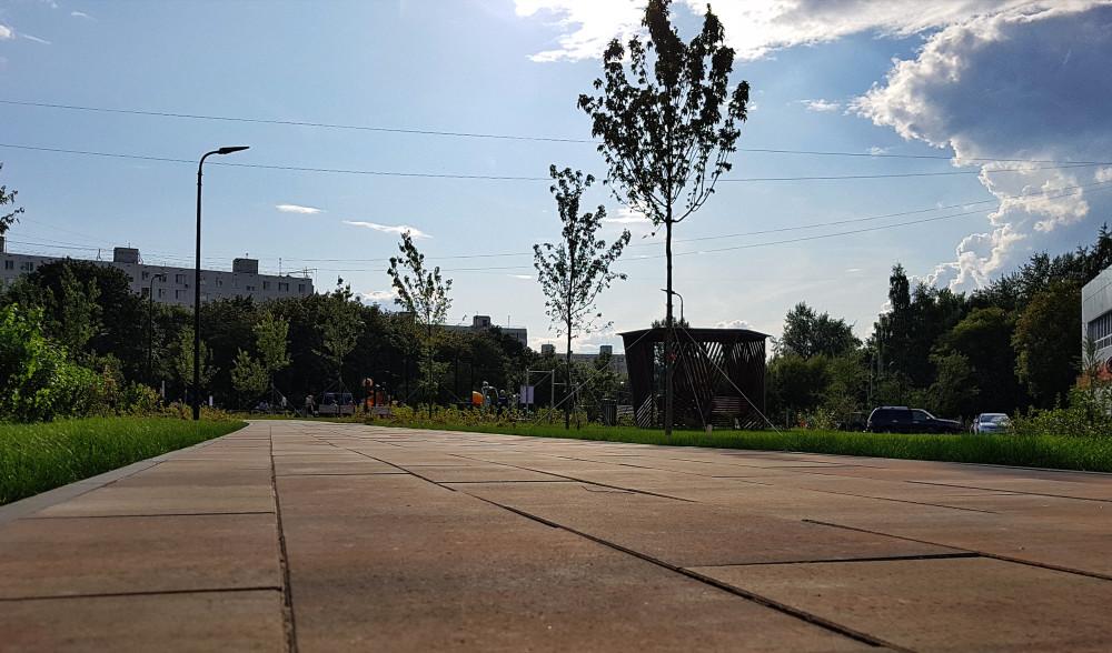 Сквер вдоль ул. Кухмистерова в Печатниках. Фото: Рустам Билялов