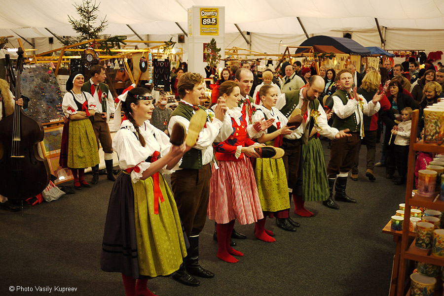 Рождественский рынок в Праге. Выступление.
