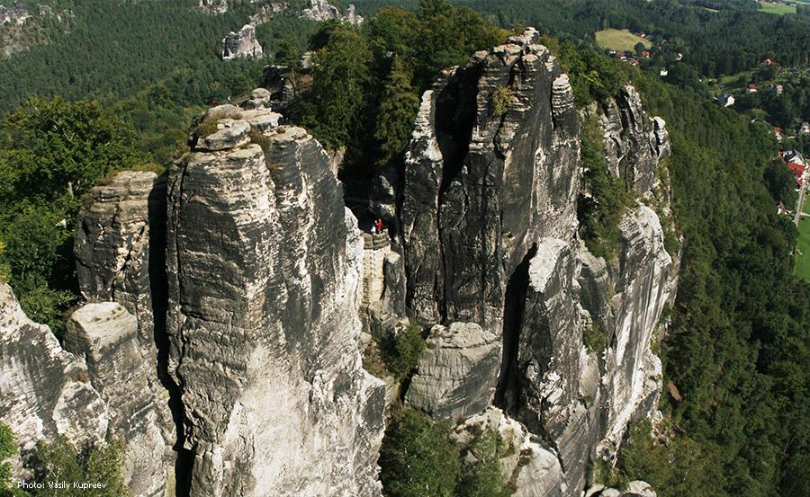 Саксонская Швейцария. Скалы.