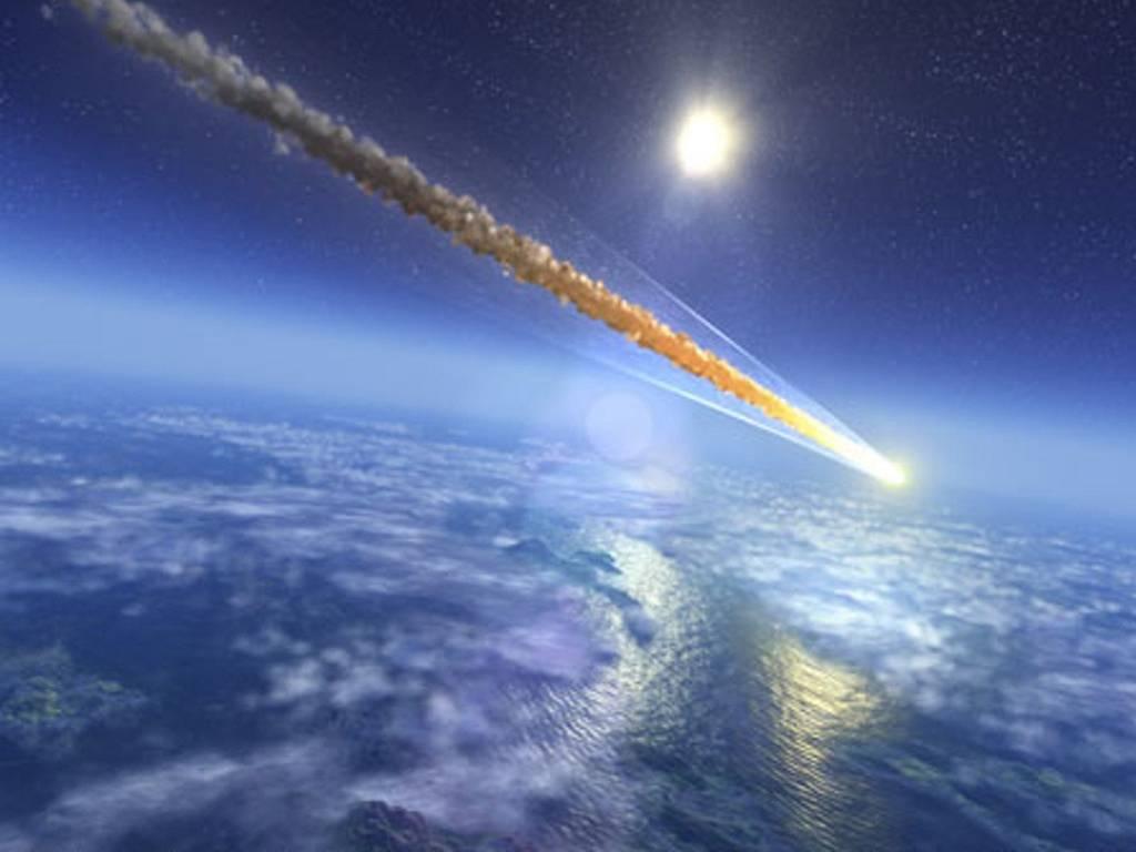 Обои огненный хвост, астероид, планеты. Космос foto 9