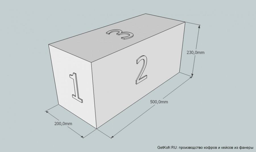 Расчет кофра коробки