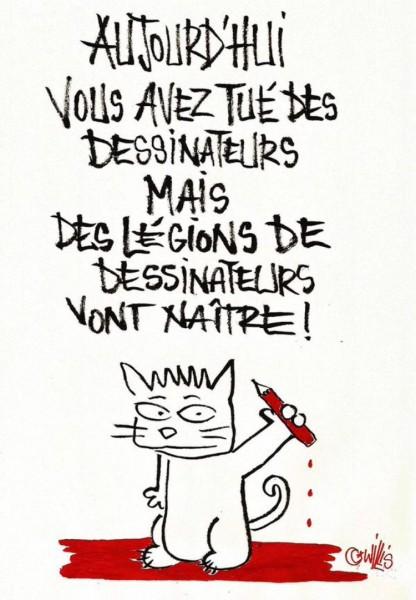 Новая обложка «Charlie Hebdo» 706431-dessin-pour-charlie