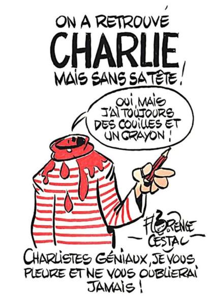 Новая обложка «Charlie Hebdo» 706440-dessin-pour-charlie
