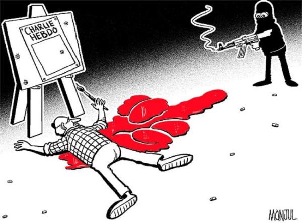 Новая обложка «Charlie Hebdo» 706169-dessin-pour-charlie