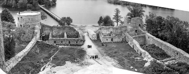 Реставрационные работы в Тракайском замке