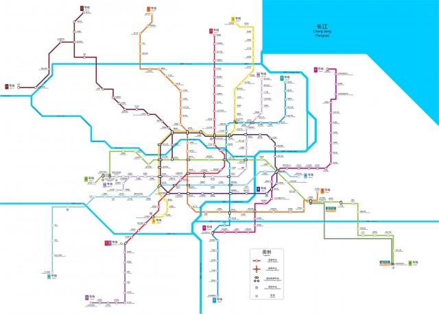 Схема линий шанхайского