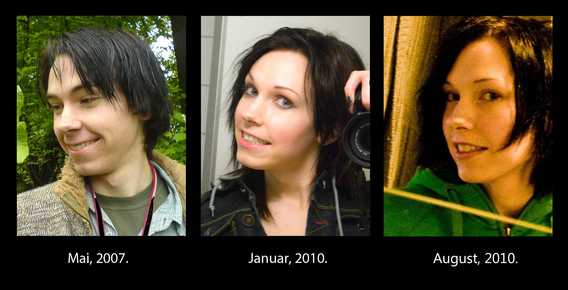 Транссексуал до и после