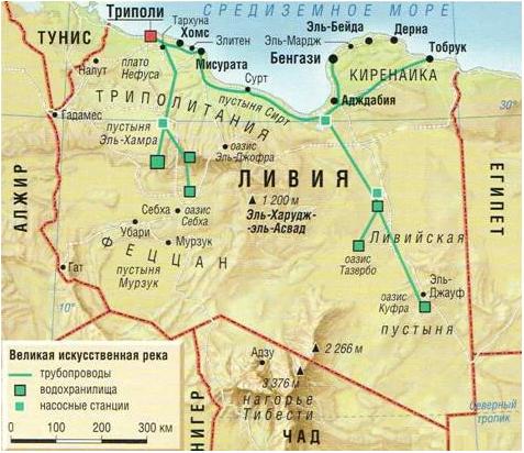 Водоснабжение Ливии до 2012 года
