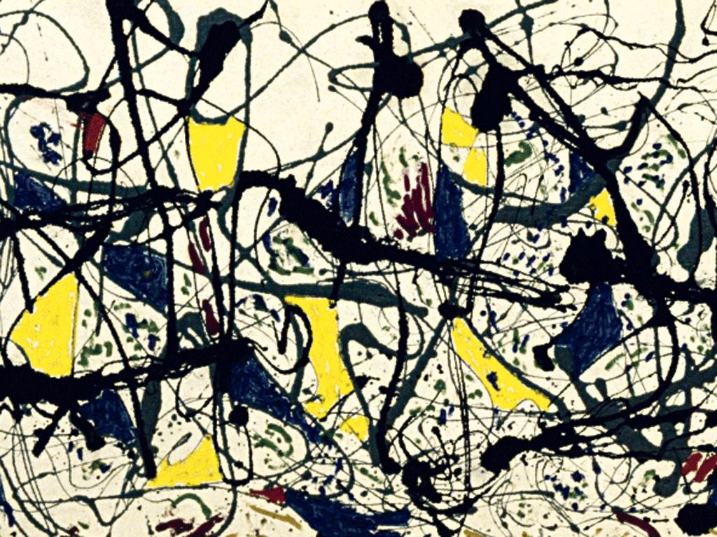 Джексон Поллок (1912—1956). Горячая штучка. (галерея Тейт Модерн, Лондон)