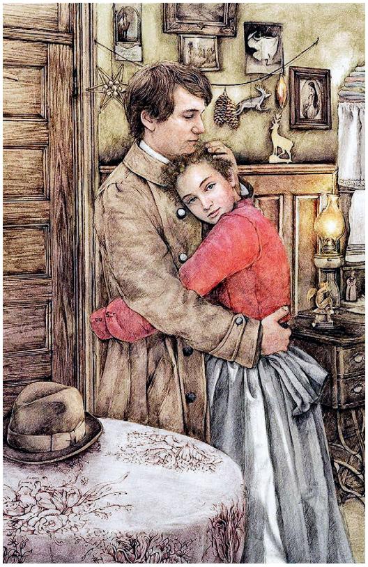 Иллюстрация Сони Дановски (Sonja Danowski) к рассказу О. Генри «Дары волхвов» (издательство Ripol Classics, 2016)