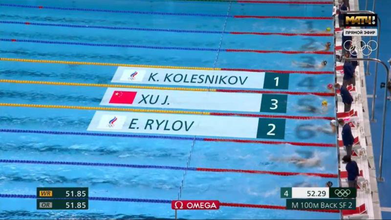 Победители полуфинального заплыва