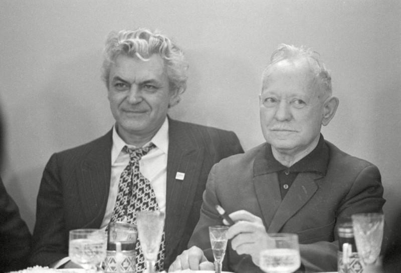 Сергей Бондарчук и Михаил Шолохов