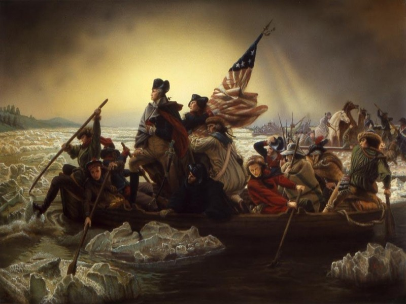 Emanuel Leutze. Washington Crossing the Delaware. 1851