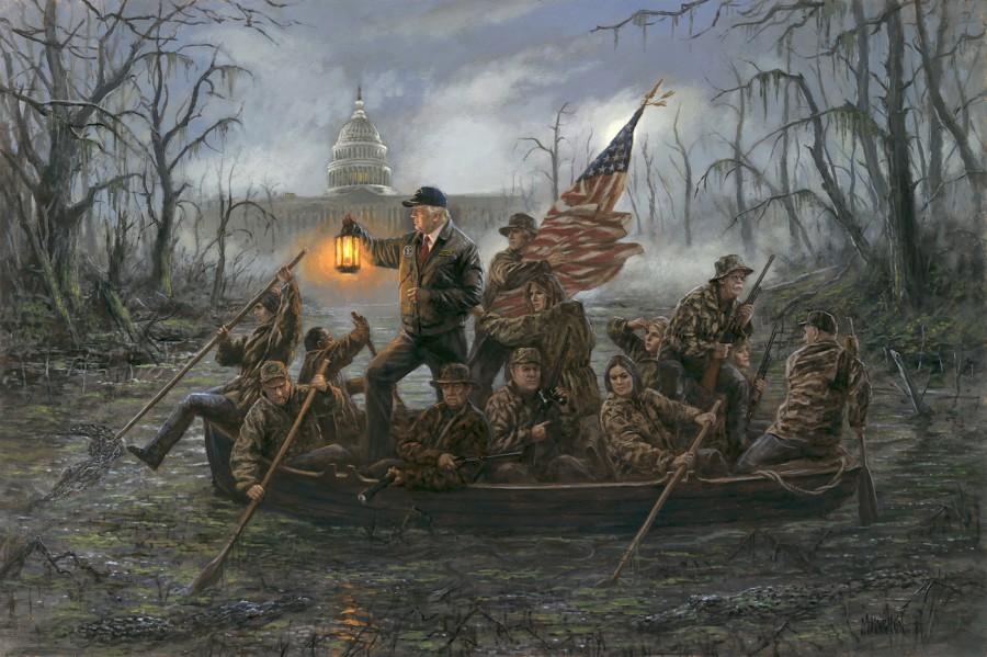 Jon McNaughton. Crossing the Swamp. 2018
