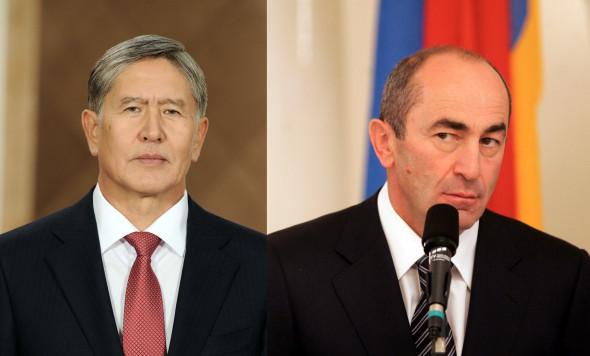 Президенты Алмазбек Атамбаев (2011—2017) и Роберт Кочарян (1998—2008)