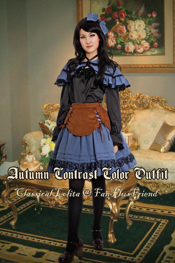 Classical Lolita Autumn Contrast Color Outfit