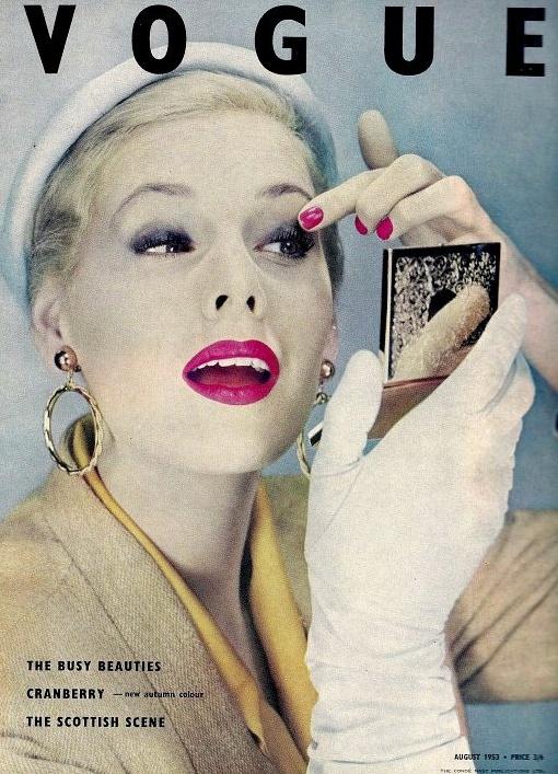 Vogue UK cover by Erwin Blumenfeld, 1953
