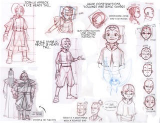 Avatar Drawing notes