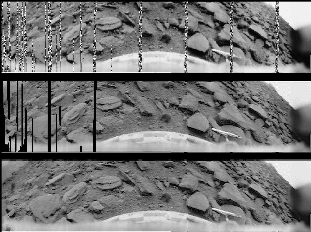 панорама, переданная АМС _Венера-9_