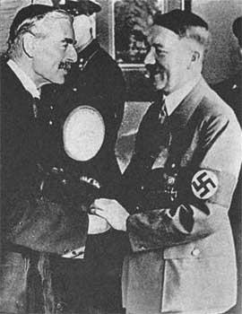 Чемберлен и Гитлер в Мюнхене