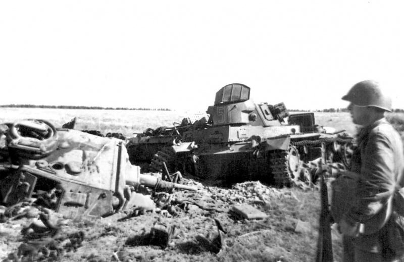 Разбитые немецкие танки