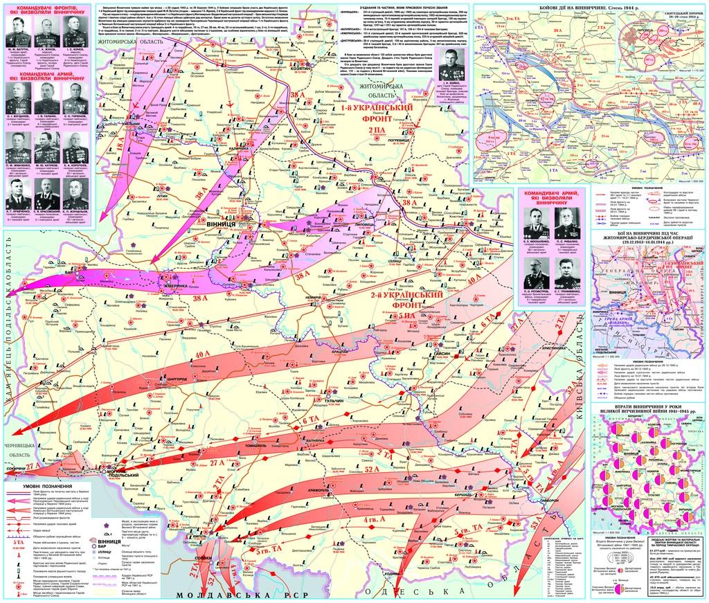 Боевые действия по освобождению Винницкой области в декабре 1943 - марте 1944 (+ потери области за годы войны)