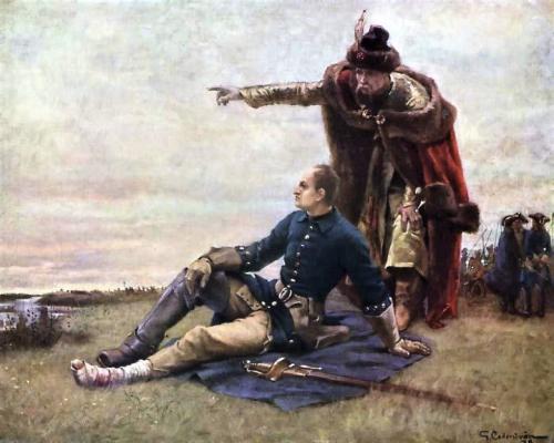 Карл XII Шведский и Иван Мазепа после Полтавской битвы.