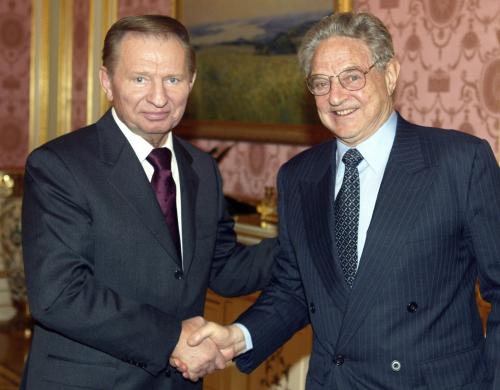 Леонид Кучма и Джордж Сорос.