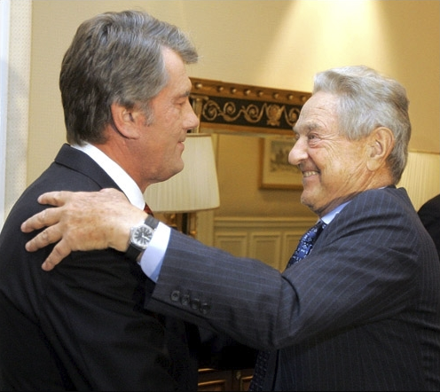 Виктор Ющенко и Джордж Сорос.