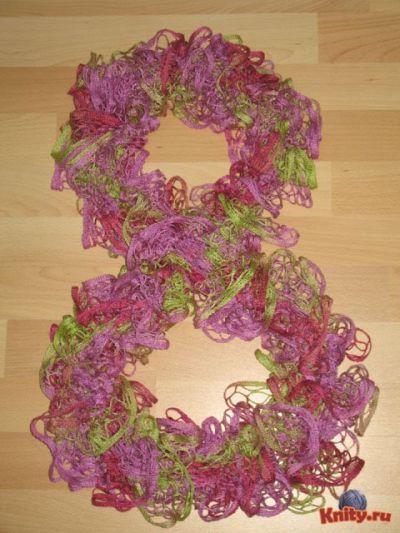 Мастер класс по вязанию шарфов из ленточной пряжи