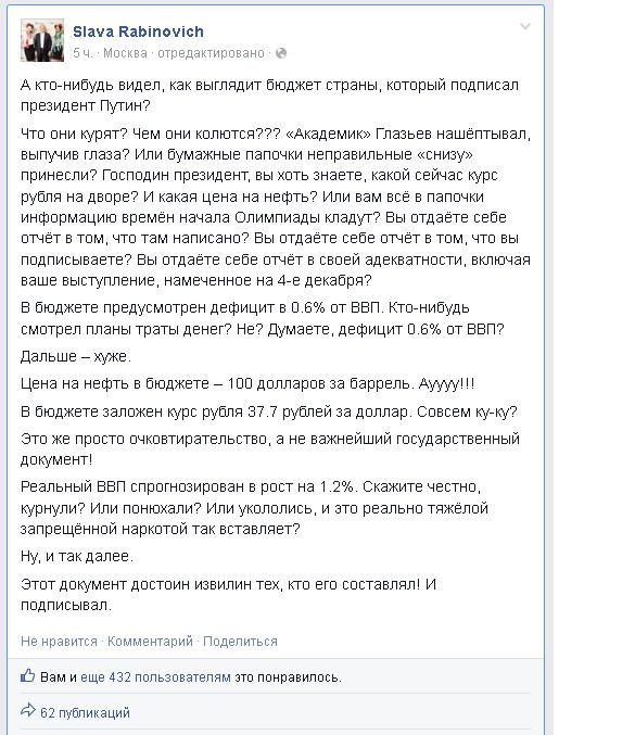 путинский бюджет