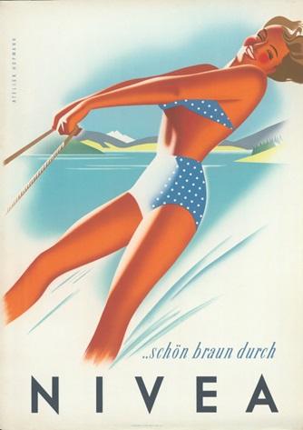 NIVEA-advertisement-poster-Austria-1950s-Beiersdorf