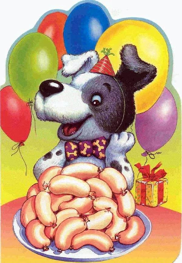Картинки с днем рождения собаки 1 год