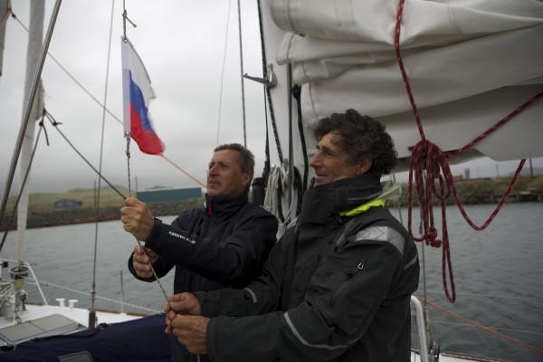 Михаил Малахов-старший и капитан Дидье Ватеркотт